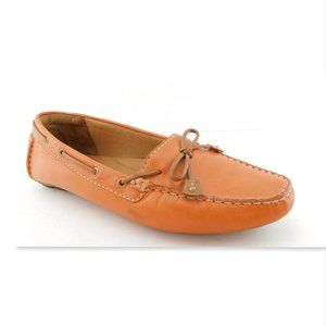 CLARKS Artisan Orange Leather Moccasins Loafers 9